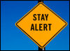 Stay Alert road sign image